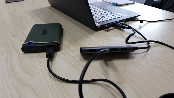 创见(Transcend)1TB USB3.1 Gen1移动硬盘StoreJet 25H3系列2.5英寸紫色抗震防护 晒单图