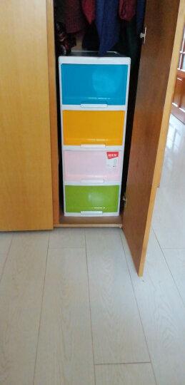 禧天龙Citylong 塑料收纳柜储物柜抽屉式四层儿童衣物玩具整理层柜 彩色72L 5021 晒单图