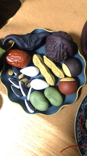 爱壶人 宜兴紫砂茶宠摆件精品可养茶具创意仿真果盘花生瓜子红枣鸡蛋板栗 葵瓜子1个 晒单图