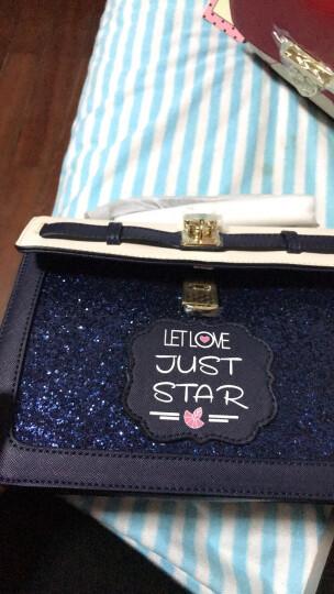 欧时纳 JUST STAR女包 时尚单肩包女 四季休闲百搭斜挎包包女士 小方包 021蓝色 晒单图