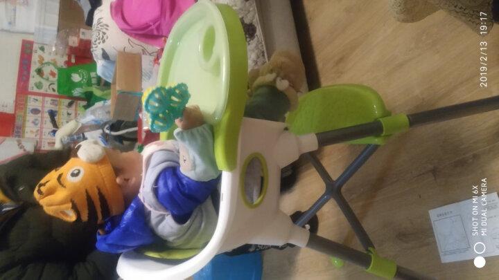 【三重变形】儿童餐椅 婴儿多功能餐桌椅宝宝便携塑料餐椅 红白色升级摇椅功能(赠坐垫+透明餐盘) 晒单图