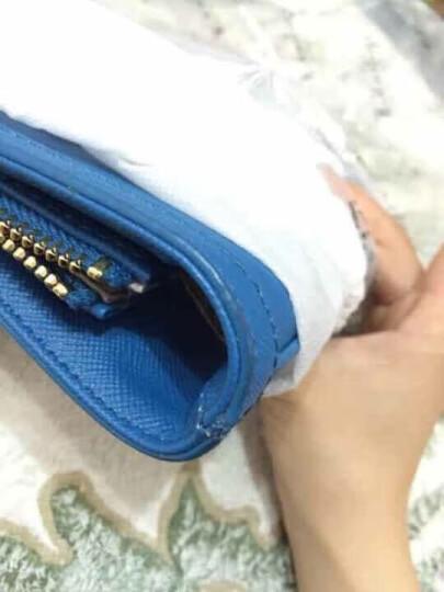 DKNY 唐娜·卡伦 女款十字纹蓝色PVC单肩手提包 764310403 420 晒单图