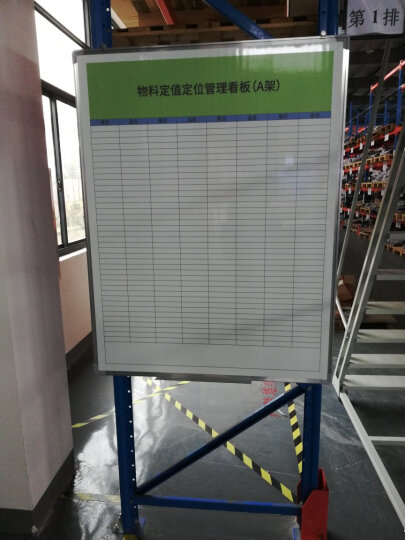 齐富(QIFU)90*120双面磁性移动白板绿板支架式白板办公会议教学写字书写黑板 100*150cm面白面绿双面带支架 晒单图