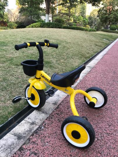 乐卡(Lecoco)儿童三轮车 避震脚踏车 三轮儿童车 乐卡童车 瑞奇免充气炫彩轮 酷炫黄 晒单图