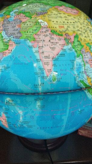天屿 发光旋转智能ar地球仪初高中学生 32cm大号 赠地图放大镜 办公书房家居摆设 32cm高初中小学用带灯木底 教学摆件地球仪 晒单图