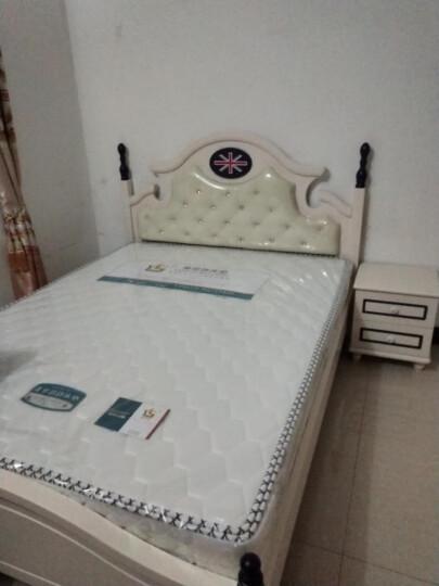 七彩元素 儿童床男孩单人床欧式床美式家具双人床8305A 排骨床+805床垫+床头柜1个 1500*2000 晒单图