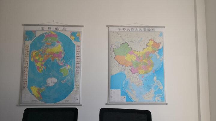 【竖版套装】2019新 中国地图+世界地图挂图 1.1*0.9米 湖南地图出版社 晒单图
