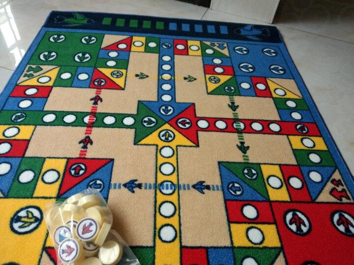 惠多 飞行棋游戏 环保儿童游戏垫 吸水防滑大号飞行棋垫子 100*130CM普通版配圆形棋子 晒单图