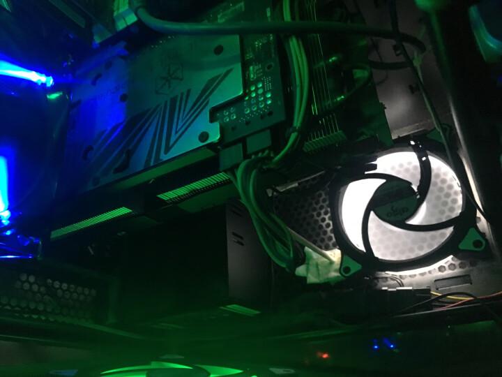 爱国者(aigo) 极光 12CM绿光 电脑机箱风扇(小3P+大4P双接口/水冷排散热/减震脚垫/赠4螺丝) 晒单图