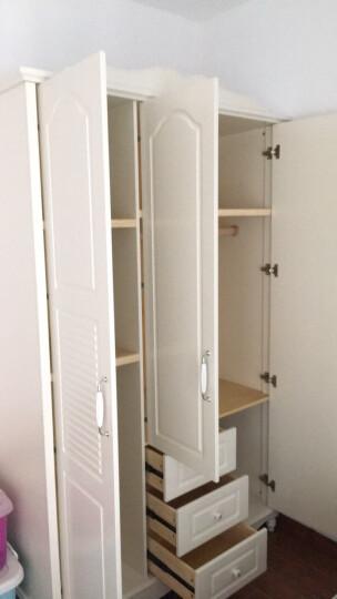 A家 家具 衣柜衣橱两门三门木质韩式田园白色卧室整体大衣柜 3门衣柜 白色 晒单图