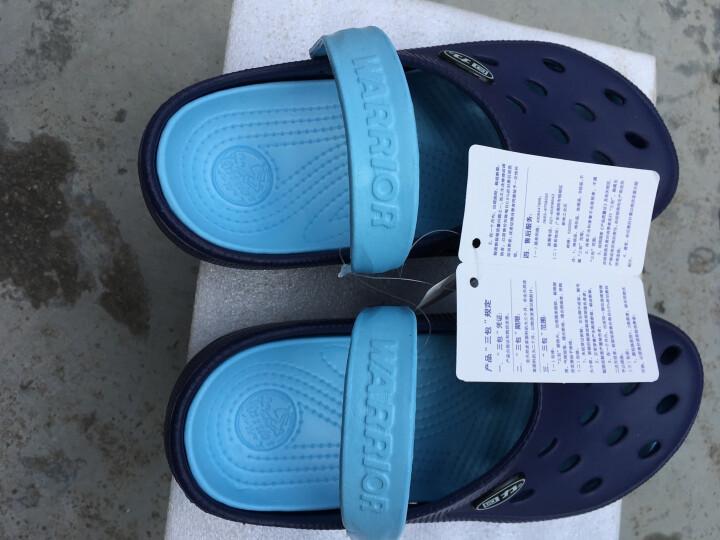 回力洞洞鞋沙滩鞋男夏季包头拖鞋男士女士情侣凉拖凉鞋 049 WXL-1066 深蓝 40 晒单图