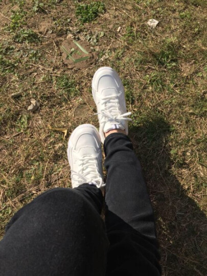 八幡(BAFAN)休闲鞋女运动鞋2019春夏新款透气小白鞋女学生小熊底老爹鞋女韩版女鞋子潮 1611棕色(网面) 36 晒单图