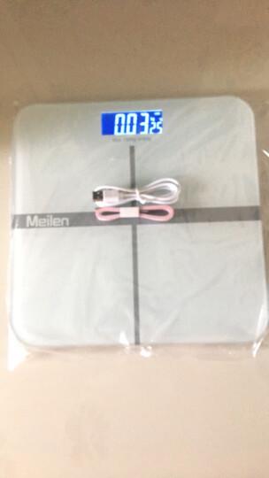 Meilen美乐称重电子秤人体秤体重秤家用精准 送礼礼品公司企业采购批发 标准版白色 晒单图