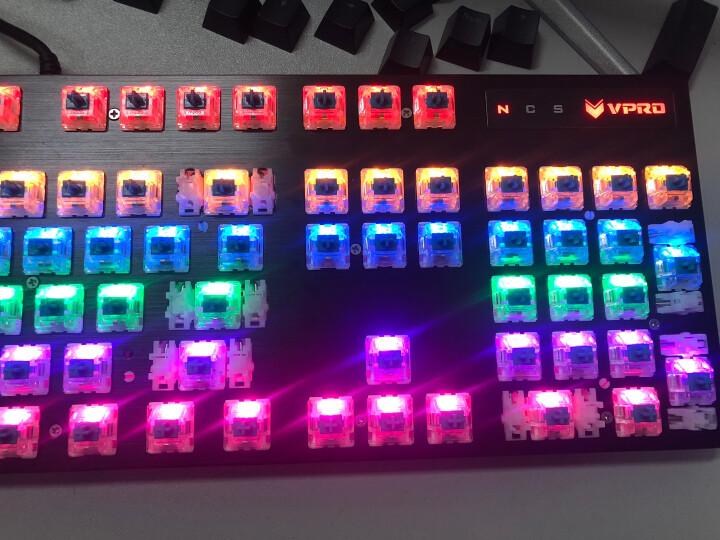 雷柏(Rapoo) V500PRO 104键混光机械键盘 游戏键盘 吃鸡键盘 背光键盘 电脑键盘 笔记本键盘 黑色 红轴 晒单图