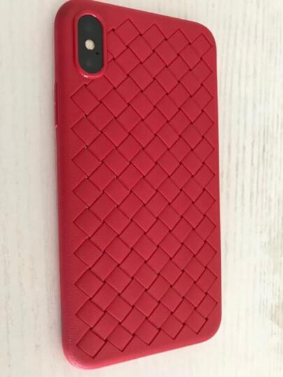 倍思(Baseus)苹果X手机壳iPhoneX编织高端手机套透气防摔保护套苹果iphone10手机全包男女软壳 5.8英寸 红色 晒单图
