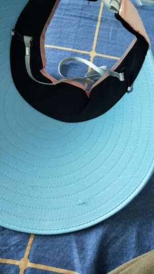 八艾 空顶帽子女夏天韩版遮阳帽女防晒帽子防紫外线户外出游百搭太阳帽 空顶粉蓝色 晒单图