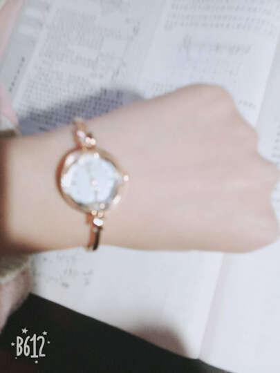 聚利时(Julius)新款手链表小巧精致镶水钻时尚OL女士石英手表JA-878 玫瑰金 晒单图