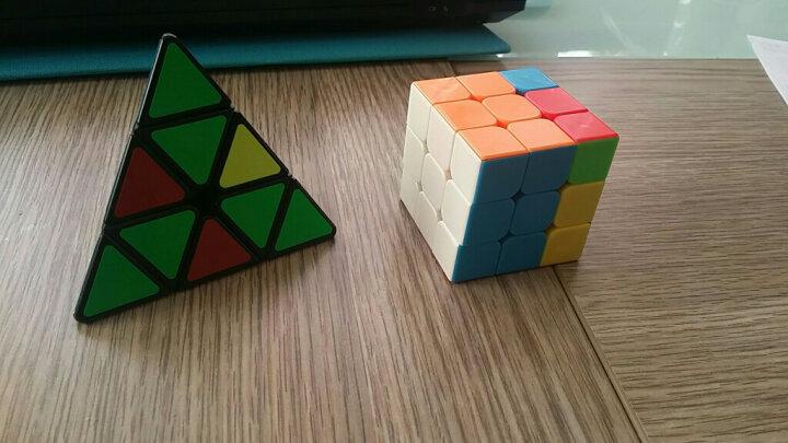 圣手二阶三阶魔方3阶精选异形套装组合礼盒装镜面三角金字塔益智玩具初学者专业顺滑速拧比赛专用 金字塔黑色 晒单图