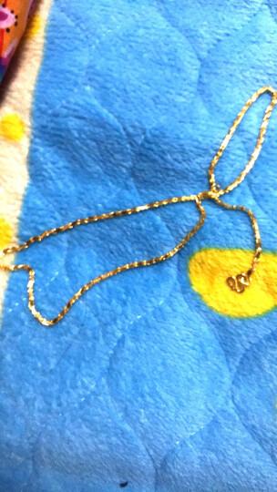 明牌珠宝 足金 w扣劈花链 黄金项链 AFR0009 工费200 足金项链约42厘米 约10.01克 晒单图