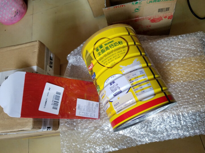 雀巢(Nestle) 成人奶粉 全脂 高钙 无蔗糖  罐装900g(新老包装随机发货) 晒单图