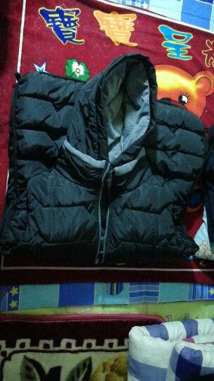 林羽森女士马甲中长款2019韩版女式背心马夹羽绒棉马甲女秋冬女装坎肩外套 墨绿色 XL(推荐105斤-120斤) 晒单图