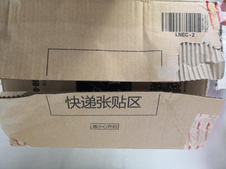 李宁官方旗舰店男子卫裤BAD FIVE篮球系列收口抓绒运动裤AKLM801 标准黑 XXL 晒单图