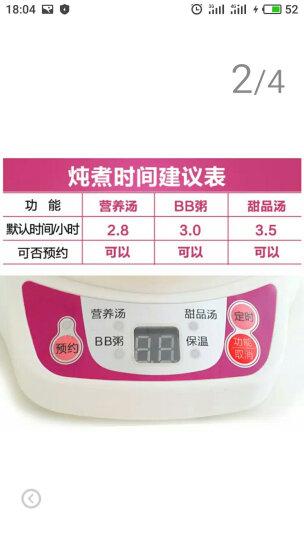 天际(TONZE) DDZ-7B(BB煲)电炖锅隔水炖盅陶瓷内胆宝宝迷你煮粥锅0.7L 白色 晒单图