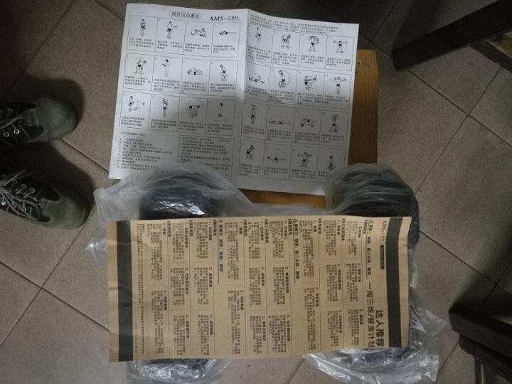 艾美仕(AiMeiShi) 包胶六角哑铃男环保无异味电镀精钢铸铁实芯家用商用健身器材 三层哑铃架 晒单图