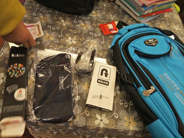 耐拓小学生书包 男童双肩儿童书包1-3-6年级背包6-12周岁书包 N822蓝黑 大号3-6年级 晒单图