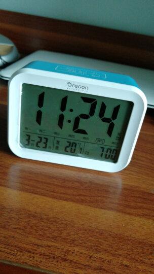 欧西亚闹钟 静音床头钟学生儿童小闹钟语音报时电子闹钟 充电款白色 晒单图