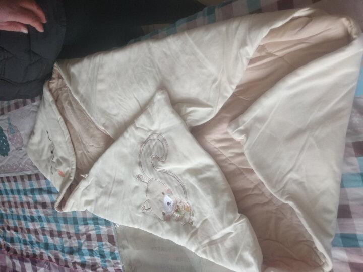 指向标 婴儿抱被春夏秋冬纯棉包被新生儿睡袋宝宝防踢被薄款 浅咖【小狐狸】 100*100CM 晒单图