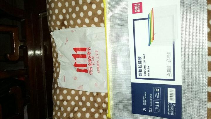 得力(deli)10只A4透明网格拉链袋 资料文件袋 单色随机5654 晒单图