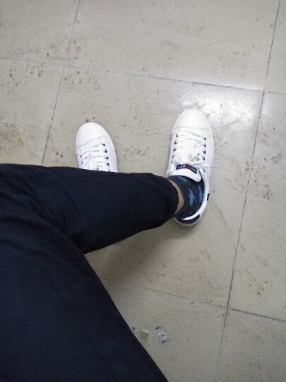 人本帆布鞋男鞋女鞋运动鞋学生韩版系带帆布鞋休闲低帮男鞋平底板鞋潮 蓝色 43码 晒单图
