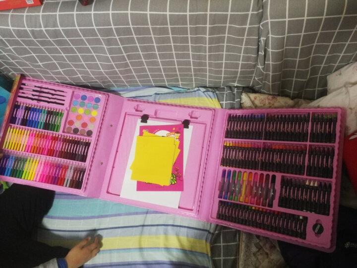 (送涂鸦本剪刀折纸)儿童画笔套装蜡笔水彩笔绘画文具画画笔套装带画板美术小学生礼物 268件【大粉色】画板 晒单图