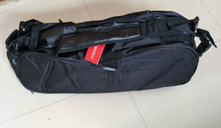 WITESS羽毛球拍包2只装 3只装 6只装双肩男女双肩运动专用 黑色羽毛球拍包 晒单图