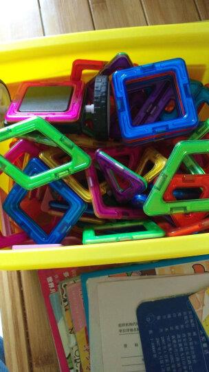 魔磁玩家(MAGPLAYER)儿童玩具积木拼插玩具一代大扇形磁力片积木玩具磁铁玩具七巧板拼图教具益智玩具 晒单图