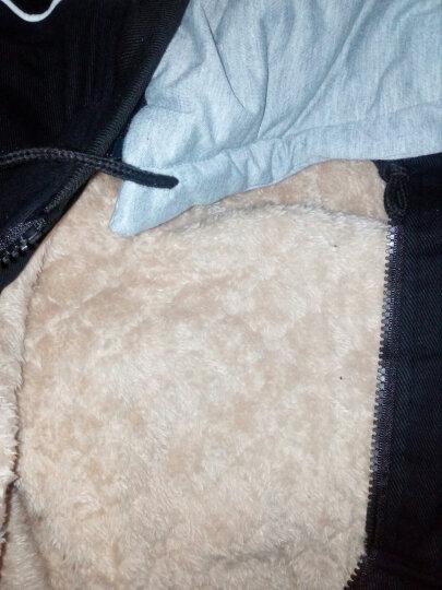 布衣妈咪   孕妇棉衣秋冬韩版宽松大码中长款羊羔毛连帽外套孕妇装加绒加厚大衣 帽子可脱卸 黑色 加绒 XL建议140-160斤 晒单图