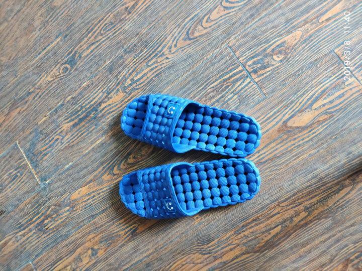南极人 拖鞋洗澡漏水防滑情侣居家浴室拖鞋 女款玫红色38-39码18001 晒单图