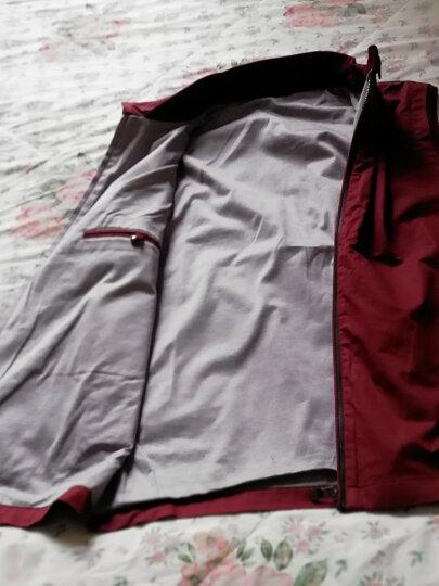 E63春秋英伦商务男士西装纯色马甲男修身坎肩立领无袖马夹背心男 深红色 XL 晒单图