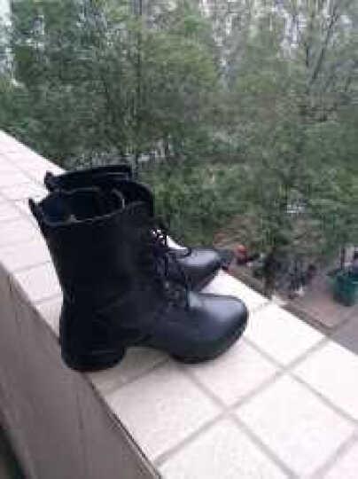牛霸道舞蹈鞋秋冬新款女鞋真皮加绒保暖广场舞鞋 时尚跳舞短靴女8666 8666黑色加绒 38 晒单图