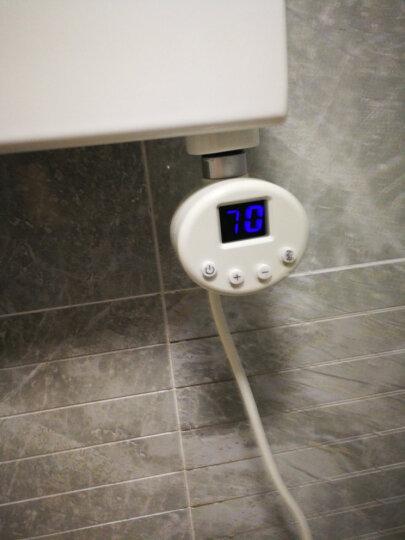 【平板mini造型】艾芬达 智能电热毛巾架 智能恒温电加热多功能衣物烘干架浴室毛巾架FR02 喷涂80*50cm【方型带液晶屏温控】 晒单图