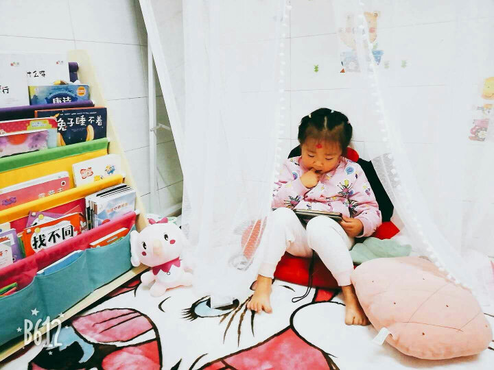 夏浪 卡通大地毯空调房客厅卧室家用床边毯 儿童环保爬行地毯 精灵猫 130*185cm(主图尺寸) 晒单图