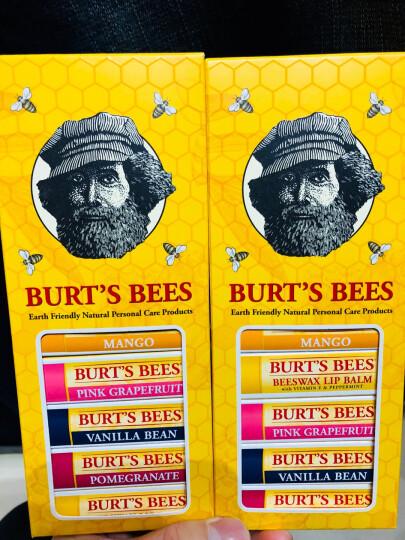小蜜蜂(BURT'S BEES)美国进口天然润唇膏女士保湿滋润无色学生儿童 孕妇唇膏可食用 2支组合装【樱桃+葡萄柚】 晒单图