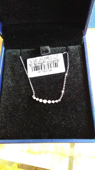 蓝色多瑙河 18K金群镶10分排钻项链钻石吊坠套链三色可选 微笑之光 红18K金 晒单图