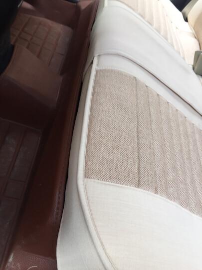 紫风铃汽车坐垫四季通用汽车座套全包四季垫速腾迈腾卡罗拉Rx5帕萨特Q5宝来凯美瑞轩逸朗逸仿亚麻座垫 Z02标准版-卡其色 晒单图