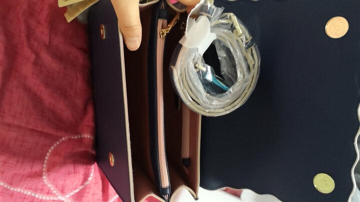纽芝兰(NUCELLE)包包女包单肩包铆钉手提包女士韩版ck包斜挎红色小方包潮流手机包 149酒红色 晒单图