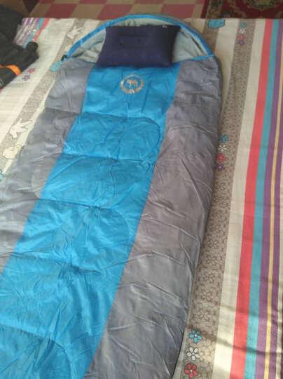 沙漠骆驼 户外睡袋成人春秋冬季保暖睡袋 加宽露营午休棉睡袋 2.20kg加宽款/蓝色 晒单图