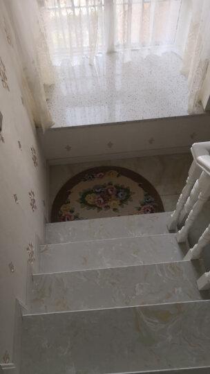 馨采欧式 楼梯垫 楼梯踏步垫免胶自粘型 防滑地垫半圆形踏步垫 楼梯垫淡粉色 26*70cm一片 晒单图