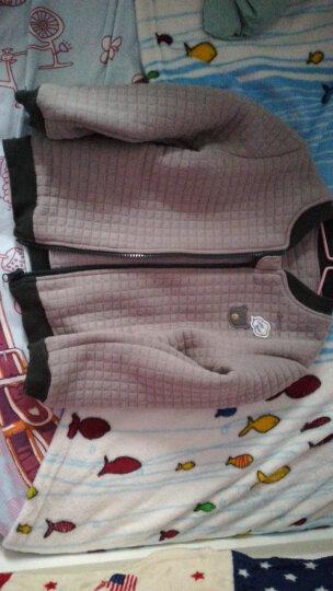 南极人(Nanjiren) 南极人儿童秋冬棉衣外套夹棉夹克宝宝外套婴儿加厚外出服 云朵小熊-军绿 80cm 晒单图