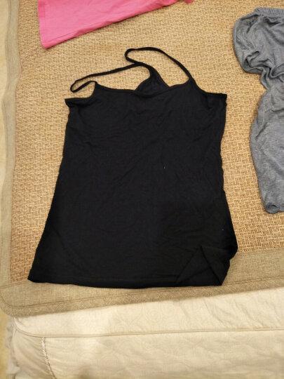【闪购】南极人2件装女士吊带工字宽肩U型背心糖果色打底衫DC 吊带-黑色+白色 均码 晒单图